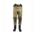 Image of Snowbee Classic Neoprene Studded Felt Sole Bootfoot Chest Waders - - Light Olive