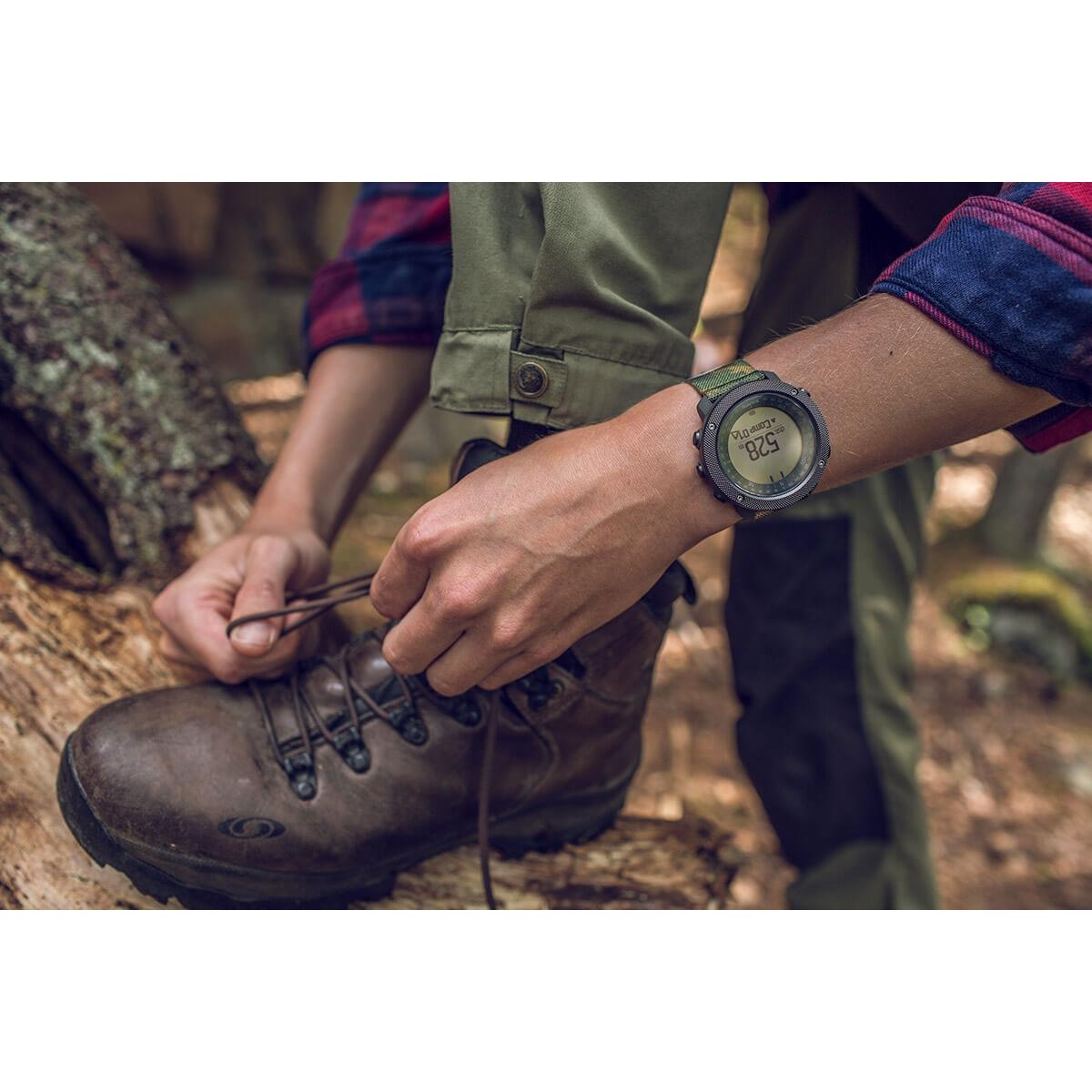 Suunto Traverse Alpha Gps Glonass Watch Woodland Black Outdoor Watches With Image Of