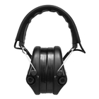 Image of Swatcom Tactical Active8 Military Grade WP Hearing Protectors w/Aux - Black
