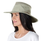 Image of Tilley Broad Curved Brim Lightweight Airflo Hat - Khaki With Olive Underbrim