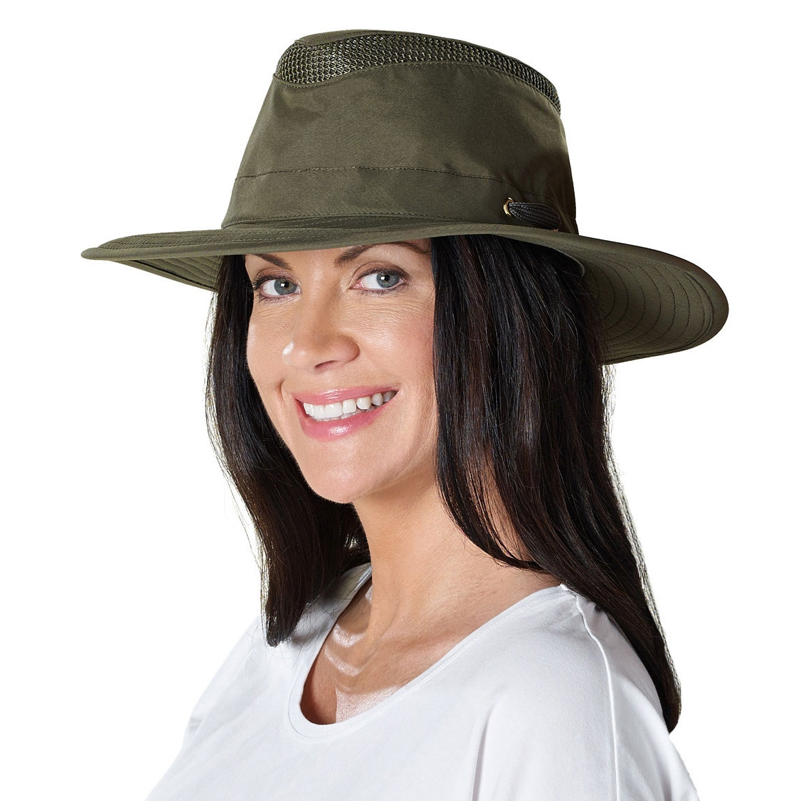 ... Image of Tilley Broad Curved Brim Lightweight Airflo Hat - Olive. « 6212b56c950
