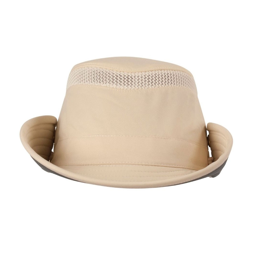 6cc454abfe3 ... Image of Tilley Medium Brim Snap-Up Lightweight Airflo Hat -  Natural Green ...