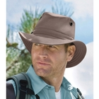 Image of Tilley Medium Curved Brim Breathable Nylon Hat - Taupe
