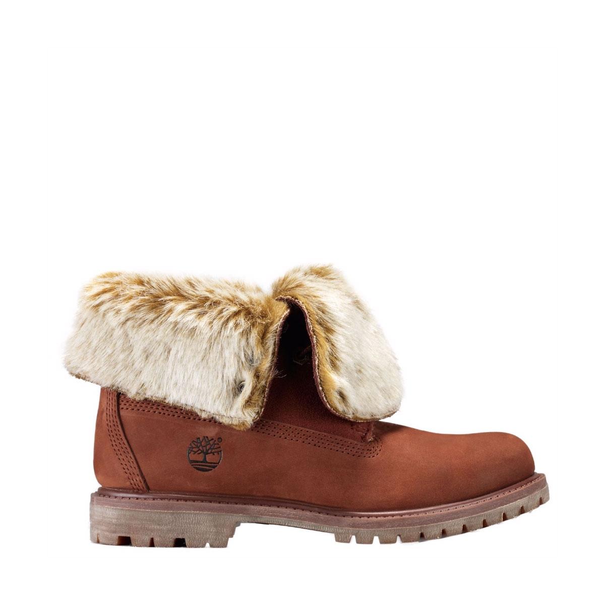 timberland authentics faux fur