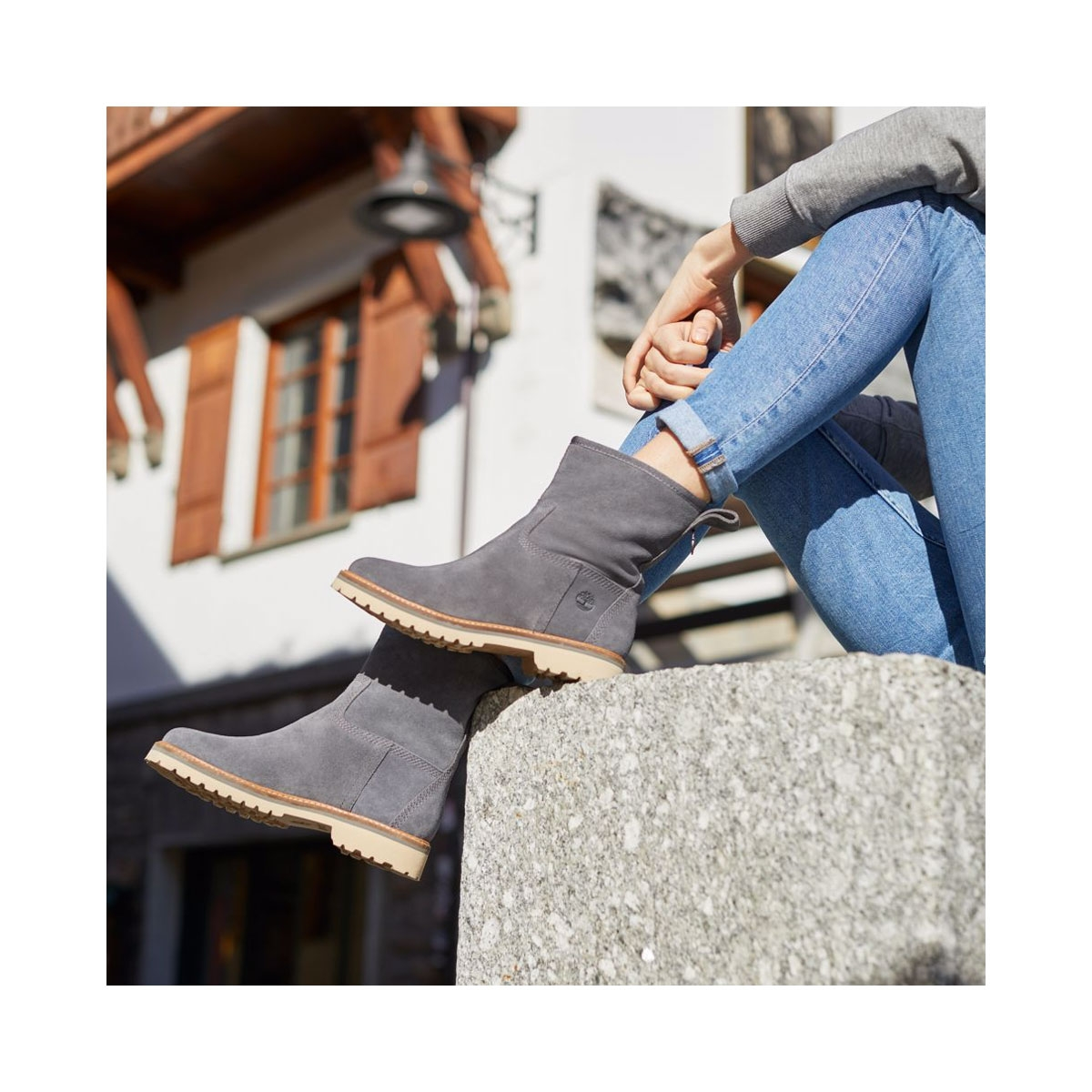 ... Image of Timberland Chamonix Valley WP Winter Boots (Women s) - Dark  Grey Suede ... ca97bd3744