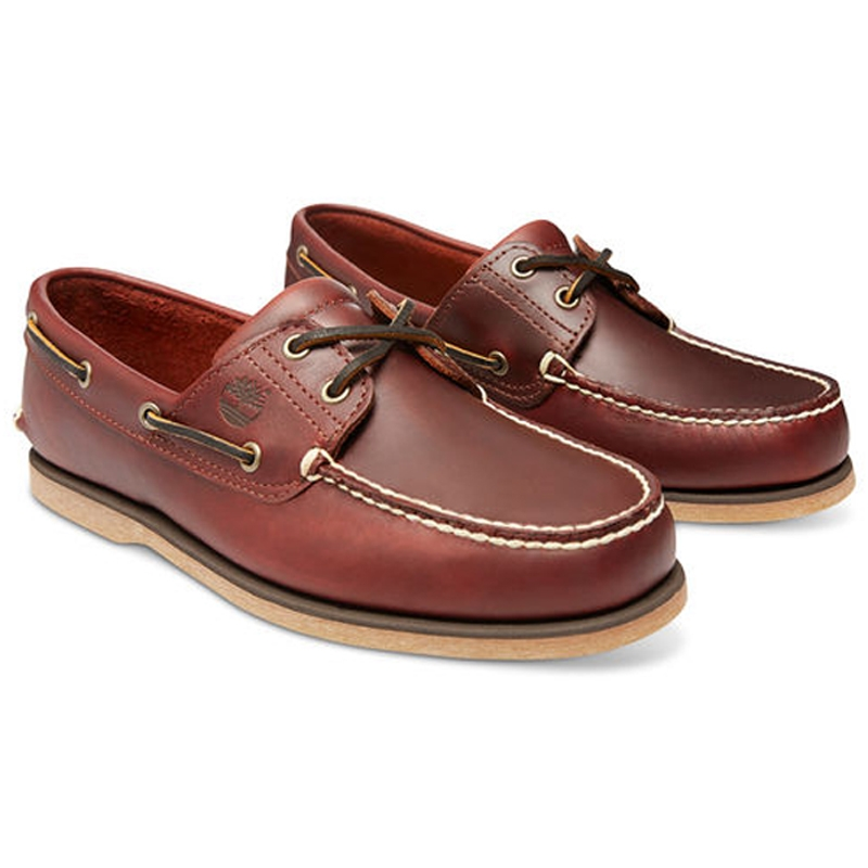 Timberland Classic 2 Eye Boat Shoe (Men's) Rootbeer Smooth