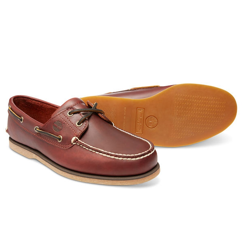 5a188ef3f ... Image of Timberland Classic 2 Eye Boat Shoe (Men s) - Rootbeer Smooth  ...
