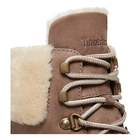 Image of Timberland Courmayeur Valley 6 Inch Boot With Authentic Shearling Lining (Women's) - Medium Grey (Taupe) Nubuck
