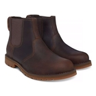 Image of Timberland Earthkeepers Larchmont Chelsea Boots (Men's) - Gaucho Saddleback (Dark Brown) Full Grain