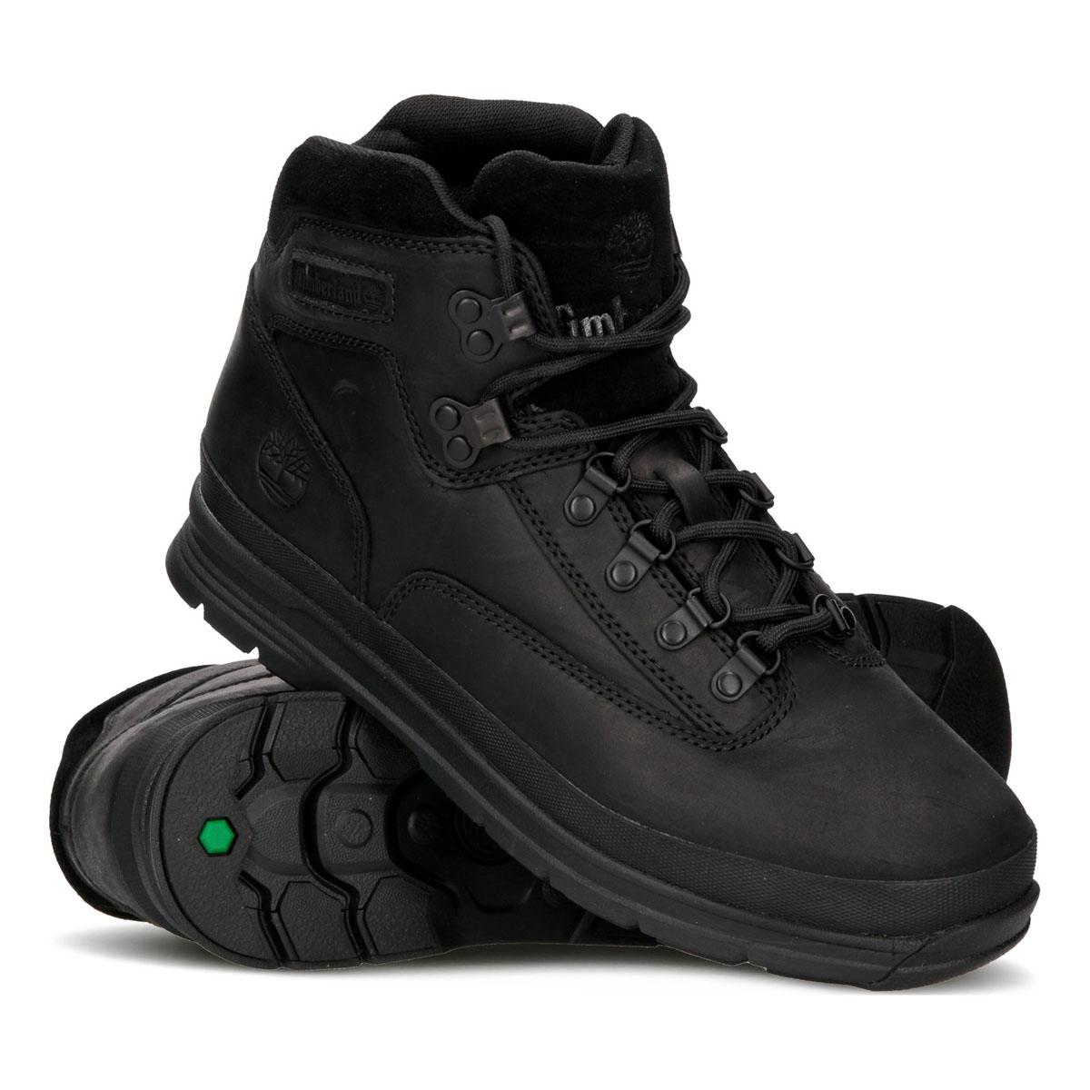 5ac038d3e4e4 ... Image of Timberland Euro Hiker SF Leather (Men s) - Black Full Grain  Leather ...