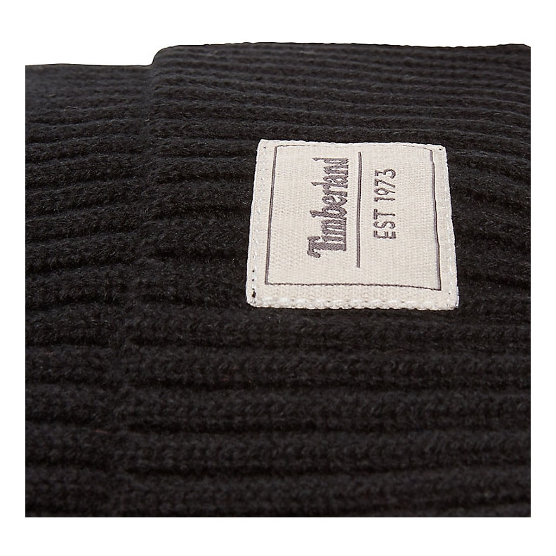 65eb609d3 Timberland Gulf Beach Ribbed Beanie (Men's) - Black