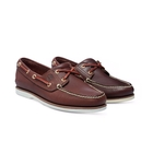 Image of Timberland Icon Classic 2 Tone 2 Eye Boat Shoe (Men's) - Dark Brown Smooth/Medium Brown Full Grain
