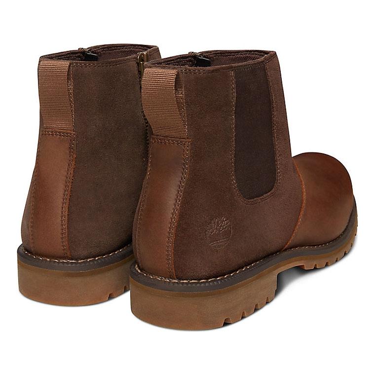 0dbbf36efec Timberland Earthkeepers Larchmont Waterproof Chelsea Boots (Men's) - Gaucho  Saddleback (Dark Brown) Full Grain