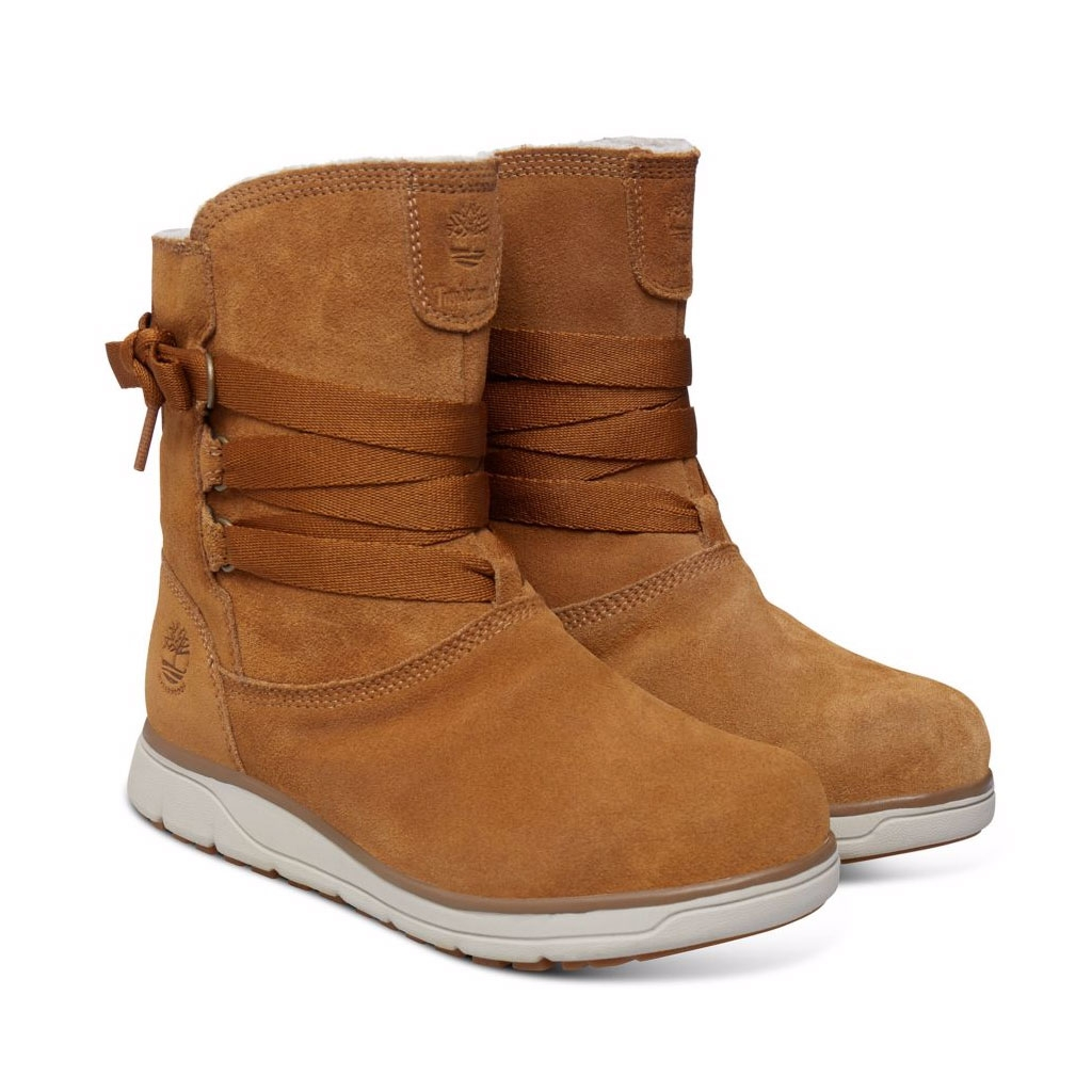 ... Image of Timberland Leighland Pull-On WP Boots (Women s) - Trapper Tan  Silk ... f60968d40319