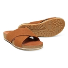 Image of Timberland Malibu Waves Cross Slide Sandals (Women's) - Rust Embossed Suede