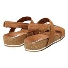 Image of Timberland Malibu Waves Cross Slide Sandals (Women's) - Rust Embossed Suede