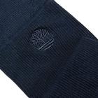 Image of Timberland Marled Ribbed Crew Socks - 2 Pack (Men's) - Dress Blue