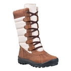 Image of Timberland Mt. Hayes Fabric and Leather Waterproof Tall Lace Boots (Women's) - Medium Brown