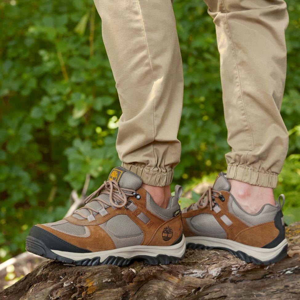 Timberland Mt.Major Low FabricLeather GTX Walking Boot (Men's) Dark Brown Suede
