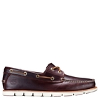 Image of Timberland Tidelands Classic 2 Eye Boat Shoes (Men's) - Rootbeer (Burgundy) Full Grain