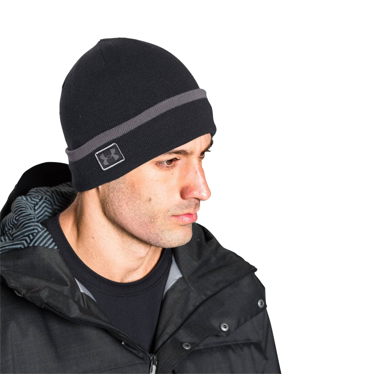 10990957993 ... Image of Under Armour Mens Cuff Sideline Beanie - Black
