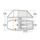 Image of Vango F10 Xenon UL 2+ Tent - Alpine Green