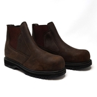 Image of Grubs Fury Worklite Safety Dealer Boot (No Box) - Dark Chocolate Oily Nubuck